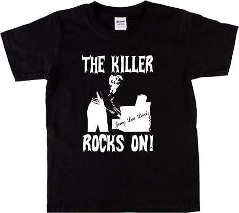 Jerry Lee Lewis Acccfor14 Camiseta de Moda Manga Corta para Mujer/Womens Short-Sleeved t Shirts Camiseta Mujer Novedad: Amazon.es: Ropa y accesorios