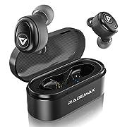 #LightningDeal Bluetooth 5.0 Earbuds, True Wireless Earbuds Bluetooth Headphones with Mic Wireless Headphones Mini Headset Sweatproof Earphones HD Sound Deep Bass with Charging Case for Sport