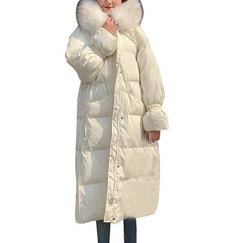 Pour Manteaux Vestes Poches Femmes Blanc Manteau Boutonné À Capuchon Unies Longues 488pOqx