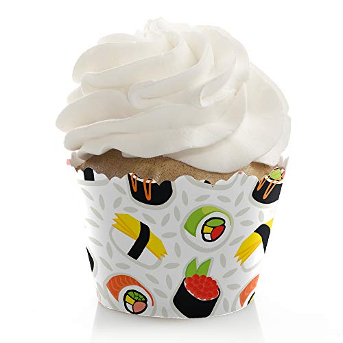 Let's Roll - Sushi - Japanese Party Decorations - Party Cupcake Wrappers - Set of 12