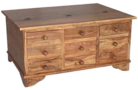 Good Sourav 9 Drawer Coffee Table Trunk