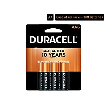 Image of Duracell - CopperTop AA Alkaline Batteries - Long Lasting, All-Purpose Double A Battery for Household and Business - 6 Count (Pack of 48) AA