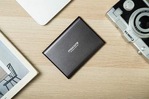 Maxone 500GB Ultra Slim Portable External Hard Drive HDD USB 3.0 for PC, Mac, Laptop, PS4, Xbox one - Charcoal Grey
