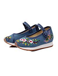 Tianrui Crown Girl's Embroidery Casual Traveling Shoes Sneaker Kid's Cute Sport Canvas Shoe