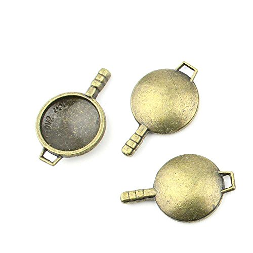 - 10 pieces Anti-Brass Fashion Jewelry Making Charms 2005 Wok Cooking Pot Wholesale Supplies Pendant Craft DIY Vintage Alloys Necklace Bulk Supply Findings