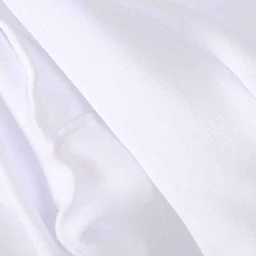 Minetom Femmes Automne Tops À Manches Longues Encapuchonné Sweat-Shirt Imprimé Lunettes Sweats À Capuche Chemisiers Fleur2 Blanc