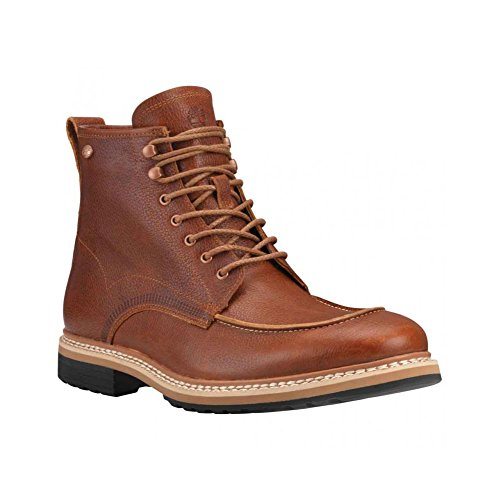 Fusion Moc Toe (Timberland Men's West Haven Moc Toe 6 Inch Waterproof Boot, Dark Brown Fog, 8 M)
