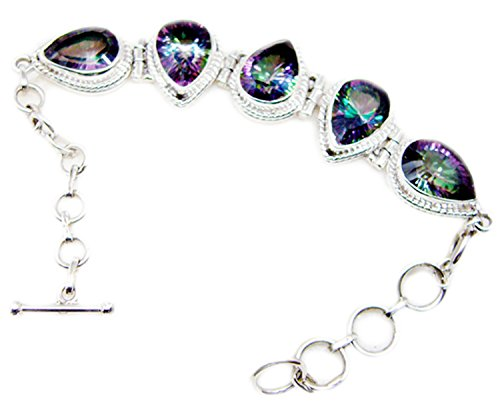 Gemsonclick Mystic à quartz Argent sterling 925Pierre précieuse Bracelet Bijoux _ Gcb459