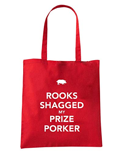 Speed TKC4051 KEEP SHAGGED Shopper MY ROOKS Shirt Borsa Rossa PORKER AND PRIZE CALM rq1UrIw