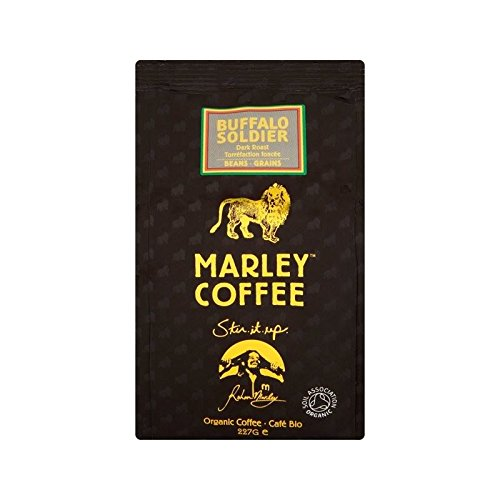 Marley Coffee Organic Dark Roast Coffee Beans - Buffalo Soldier 227g - Pack of 2