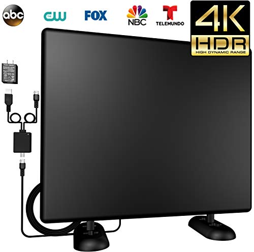 KingKKong Amplified 120+Miles Ultra TV Antenna - Indoor/Outdoor HDTV Antenna with Amplifier TV Channels High Reception Digital Antenna for TV VHF/UHF/4K/1080P Signals High Definition (1)