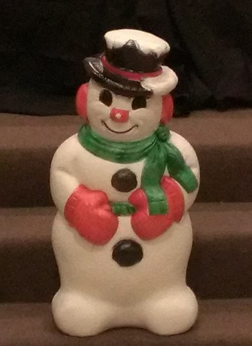 Standing Snowman Blow Mold Made product image