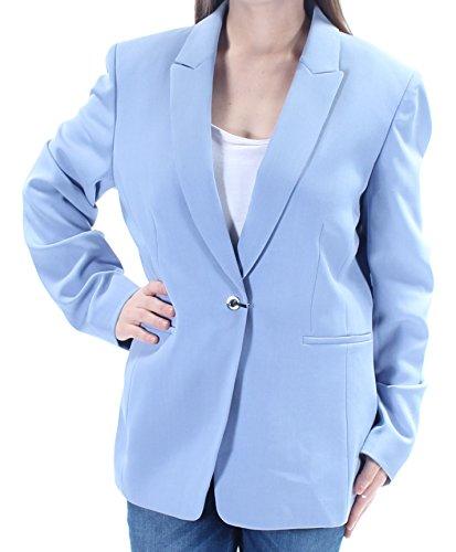 Tahari by Arthur S. Levine Women's Crepe One Button Pant Suit, Pale Blue, 10 (3 Button Tahari Asl)
