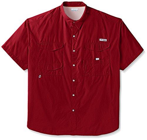Cheap Columbia Men's Bonehead Shorts Sleeve Big Shirt, Beet, 3X