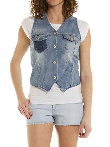 Clair En Taille Manches Stone 546 490 Bleu Carrera super Gilet Wash Tissu Extensible Pour Slim Jean Western Lavage Style Femme Jeans Sans PxEpwU