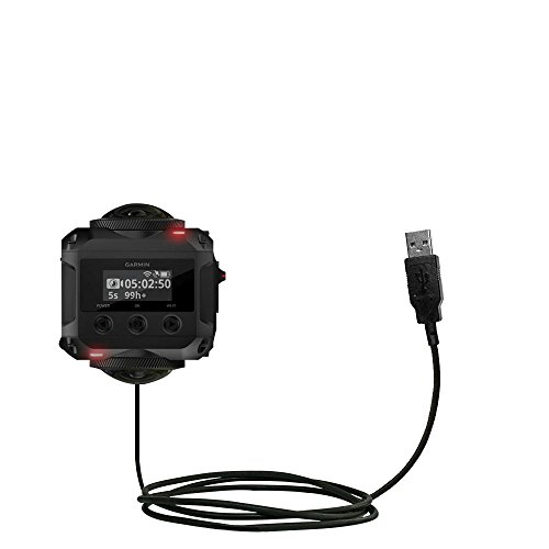 Hot Sync and Charge Straight USB cable Compatible with Garmin VIRB 360 - Charge and Data Sync with the same cable. Built with Gomadic TipExchange Technology