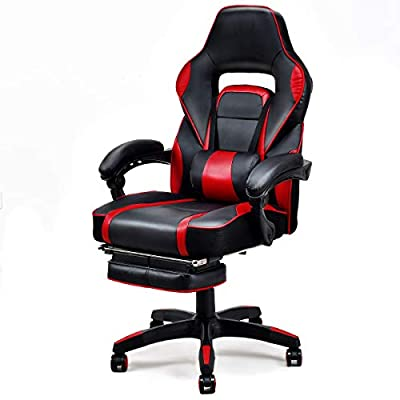 Giantex Gaming Chair Racing Chair Ergonomic High-Back with Footrest and Lumbar Support Adjusting Swivel Executive Office Chair from Giantex