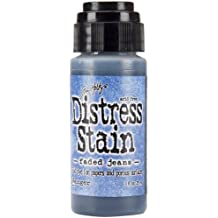 Ranger TDW-29847 Tim Holtz Distress Stain Fluid Water-Based Dye, Faded Jeans, 1-Ounce