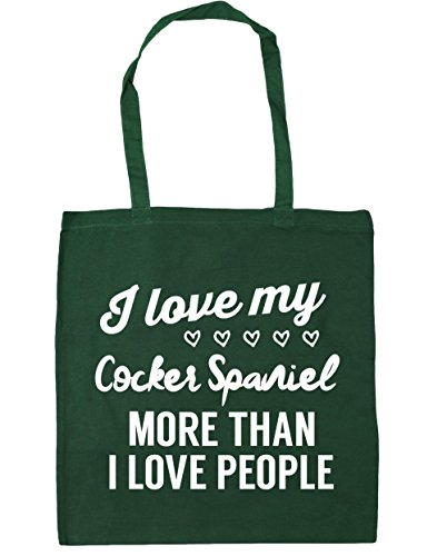 more Bag than Green 10 I my litres x38cm HippoWarehouse Beach 42cm love Bottle I spaniel Tote love Gym cocker Shopping people Cn6nYXqw