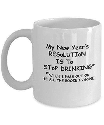 funnyceramiccoffeemug NewYear Resolution 2019 - Funny Chinese NewYear Porcelain White Funny Coffee Mug , Best Office Tea Mug - Birthday Gag 11 -