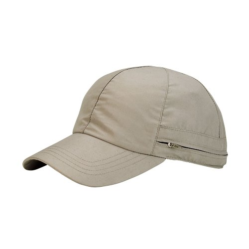 Juniper Microfiber Cap with Flap, One Size, Khaki