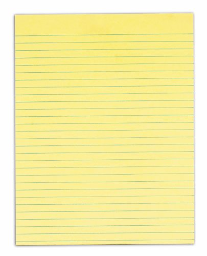 TOPS Second Nature 100% Recycled Legal Pad, 8-1/2 x 11 Inches, Gum-Top, Canary, Legal/Wide Rule, 50 Sheets per Pad, 12 Pads per Pack (74860) by TOPS (Image #3)