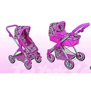 Amazon.es: Minimamy Carrito para muñecas 2 en 1 Cochecito bugabu capazo y Sillita 68, 5 cm. de Alto: Juguetes y juegos