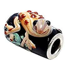Murano Glass Frog charm Bead - fits pandora & troll bracelets