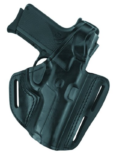 - Gould & Goodrich B803-G19 Gold Line Three Slot Pancake Holster (Black) Fits GLOCK 19, 23, 32