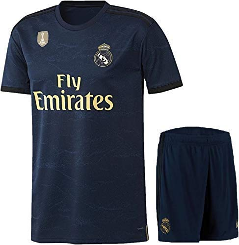 Real Madrid Away Jersey with Shorts 2019-20 Champion Badge ON Jersey Price & Reviews