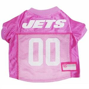 NEW YORK JETS DOG Jersey Pink, Small. - Football Pet Jersey in PINK