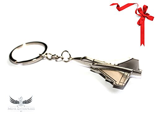 Mehr Fighter Jet Key Chain - Durable Air Force Keychain w Key Ring Air Force Key Ring