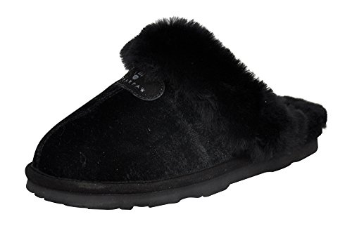BEARPAW Black Velvet Loki Ii Women's Slide Slipper wCAwFgq