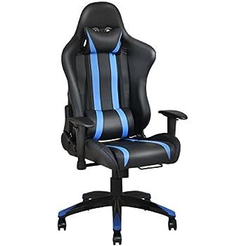 Amazon Com Giantex Gaming Chair Racing Style High Back Pu