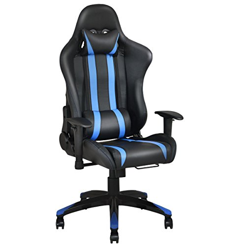 41jyFZyu0eL - Giantex Racing High Back Reclining Gaming Chair Ergonomic Computer Desk Office Chair