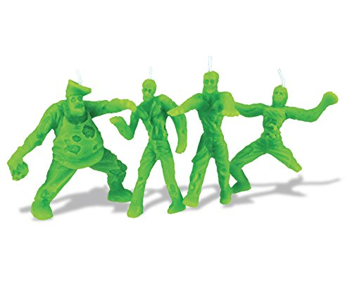 Zombie Candles Set of 4 - Green, 3