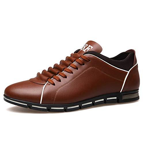 Cabeza de Zapatillas de Hombre amplios Deporte Aire al Redonda Marrón Ocasionales Cordones Libre para cómodos con Zapatos xqUvXg