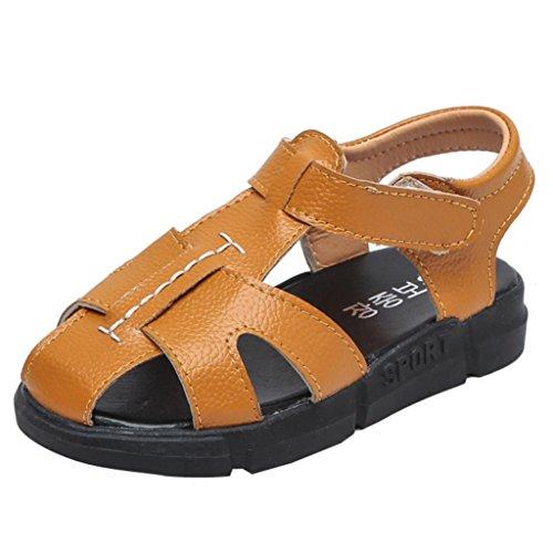 Prevently Kinder Baotou Rutschfeste Lässige Sandalen Baby Kinder Fashion Sneaker Kinder Jungen Mädchen Sommer Casual Sandalen Schuhe Gelb