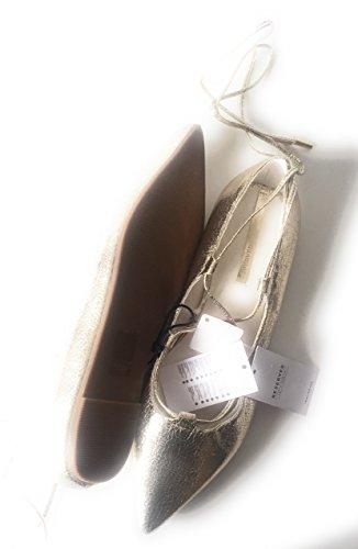 Colore Oro A Caviglia Chiusura Ballerine RESERVED Altezza LACETTI Chic twqTEO7