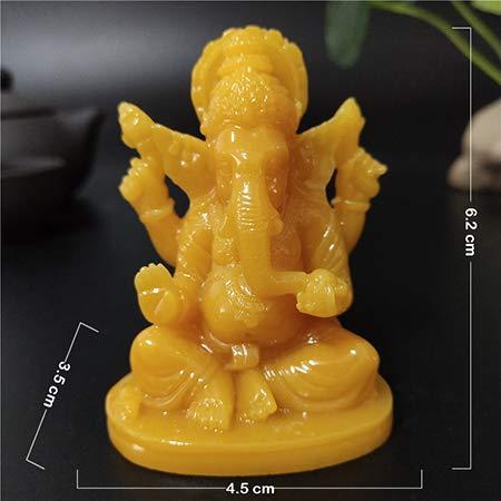 QWERTOUY Ganesha Buda Estatua Casa Jardín Decoración Elefante Indio Dios Escultura Hecho a Mano Jade Stone Crafts Decoración para el hogar Estatuas de Buda,B por QWERTOUY