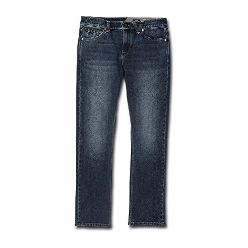 Volcom Men's Vorta Slim Fit Stretch Denim Jean, Medium Blue Wash, 31X32