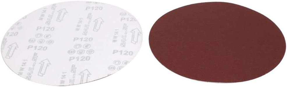 Vaorwne 9-Inch Dia 120 Grits Self-Stick Sanding Disc Flocking Sandpaper Polishing Tool 10Pcs