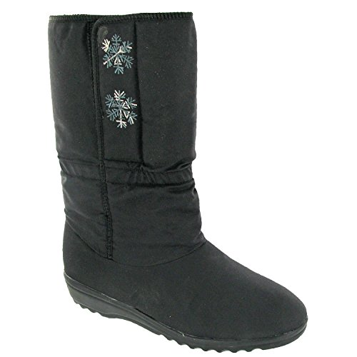 Black Snow Snowflake Boot Boots Ladies Blizzard w0AX6antq
