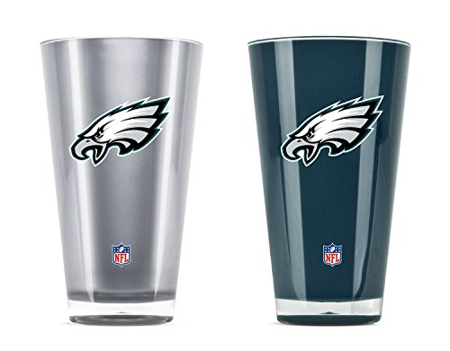 NFL Philadelphia Eagles 20oz Insulated Acrylic Tumbler Set of 2