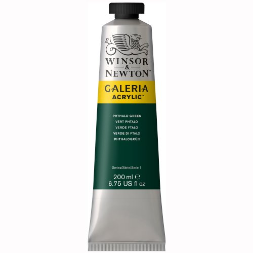 Winsor & Newton Galeria Acrylics - Phthalo Green - 200ml (Newton Oil Colour)