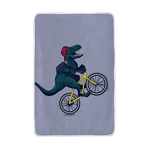 ZZKKO Funny Dinosaur Animal Blanket Throw Warmer for Kids Baby Boy Girl Home Decorative Couch Soft Bed Living Room Nap Mat Outdoor Travel