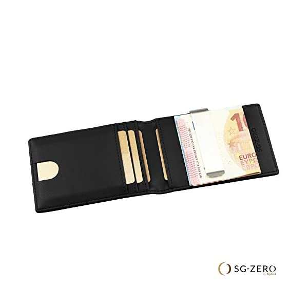 l'ultimo 1354b d417f Portafoglio intelligente vera pelle con ferma banconote ...