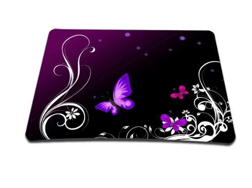 Luxburg® Design XL Gaming Mauspad Mousepad, Motiv: Schmetterlinge lila