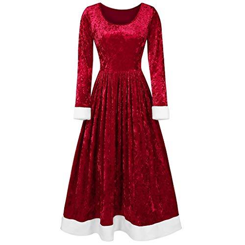 Women's Christmas Long Sleeve V Neck Velvet Maxi Dress (David Meister Strapless Dress)