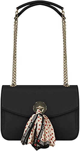 7506V borsa donna LOVE MOSCHINO ecopelle black pebble-eco leather bag woman Nero